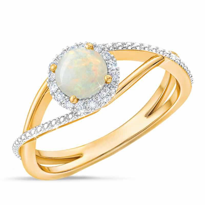 Birthstone  Diamond Ring 1099 001 8 10