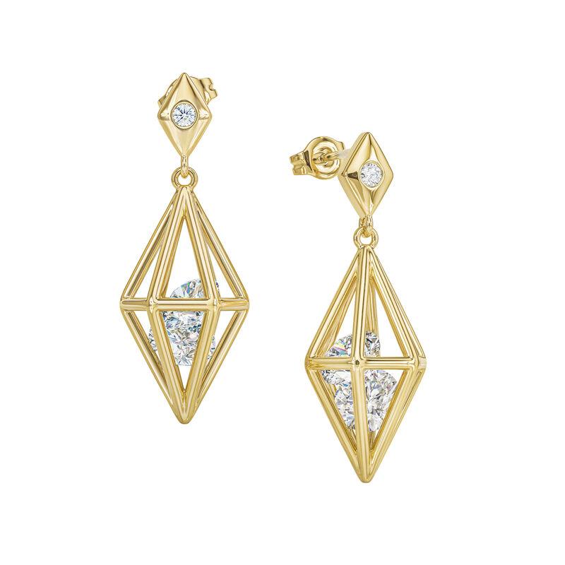 Elegantly Paired Caged Pendant Earring Set 6734 0018 c earrings