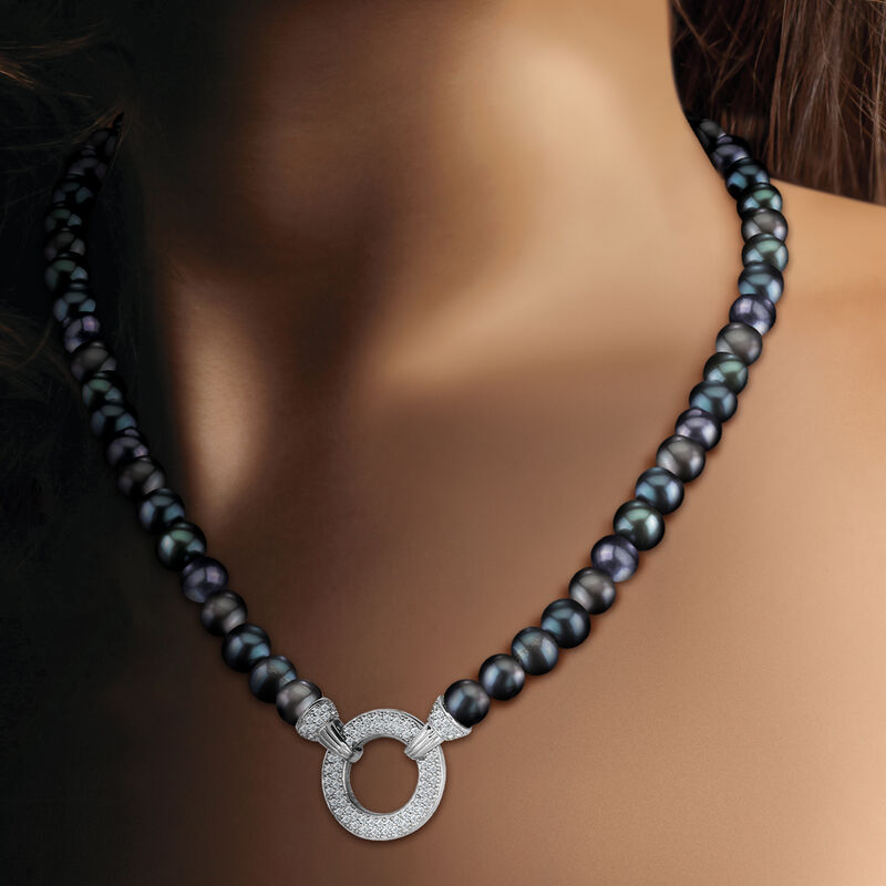 Magical=Moments Black Pearl Necklace 6922 0028 m model