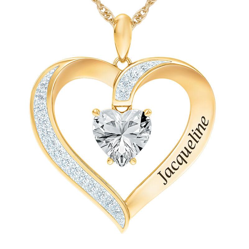 The Birthstone Heart Pendant 6015 0026 d april