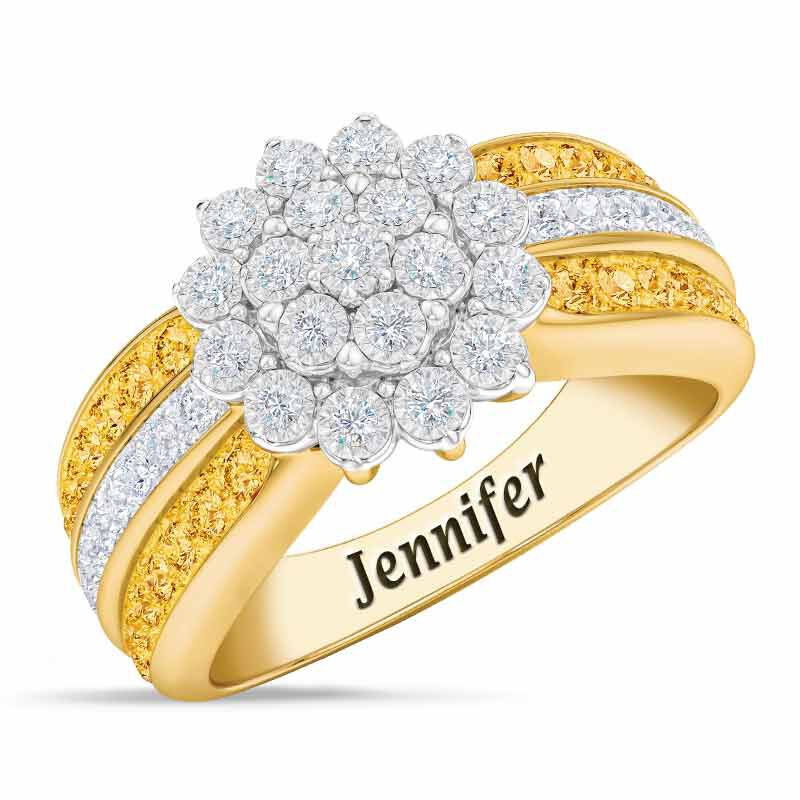 Personalized Birthstone Radiance Ring 5687 003 3 11