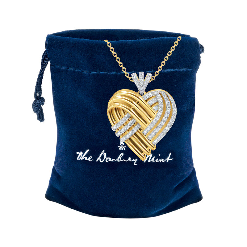Woven Together Personalized Heart Pendant 10134 0016 g gift pouch