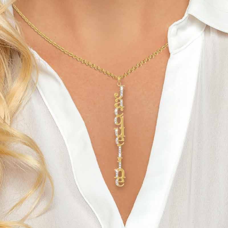 Personalized Swarovski Crystal Necklace 6572 001 3 2