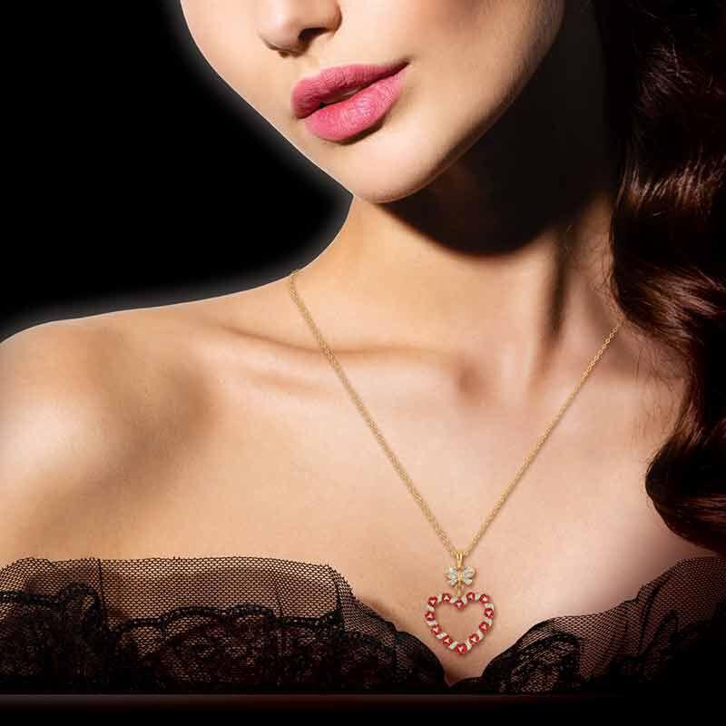 A Dozen Roses Diamond Heart Pendant 6242 001 3 3