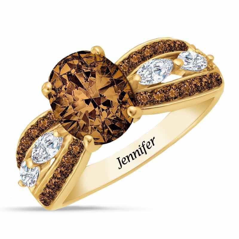 Mocha Majesty Personalized Ring 4921 002 4 1