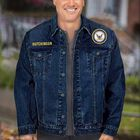 The Personalized Mens US Navy Denim Jacket 1365 002 3 3