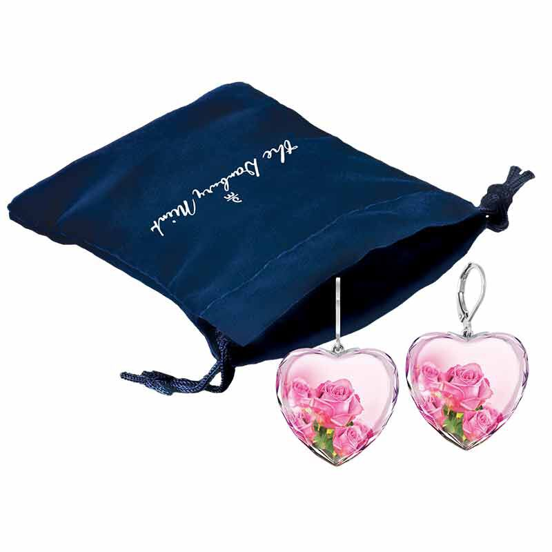 For My Daughter Enchanting Rose Crystal Earrings 5417 006 3 2