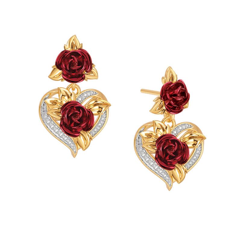 A Dozen Roses Heart Bracelet and Earring Set 6308 0022 c earrings