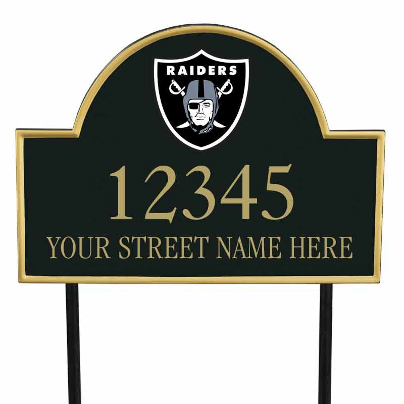 The NFL Personalized Address Plaque 5463 0355 w raiders