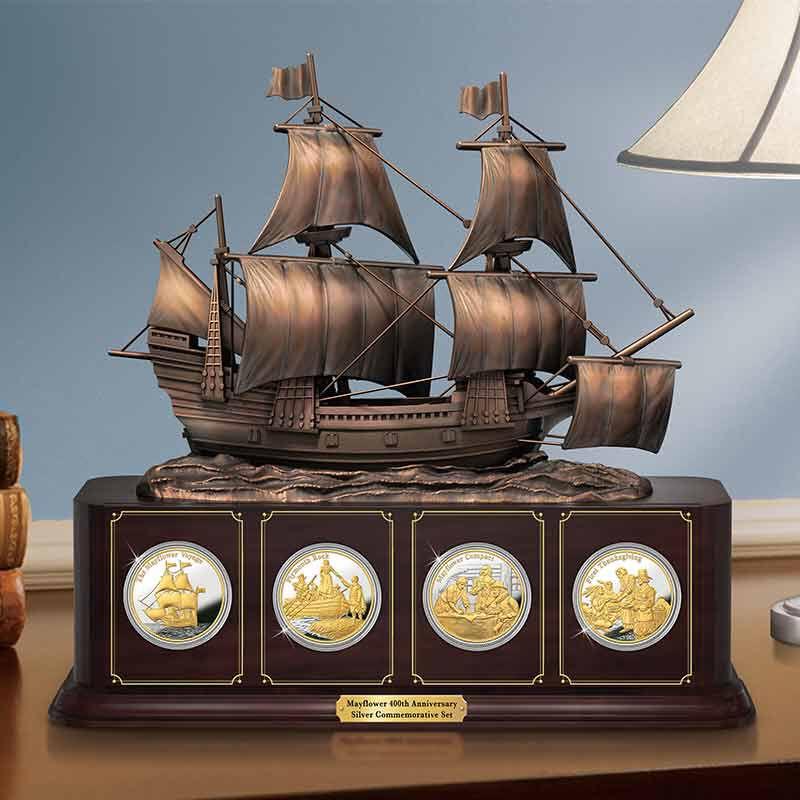 The Mayflower 400th Anniversary Silver Bullion Commemorative Set 6699 001 1 4