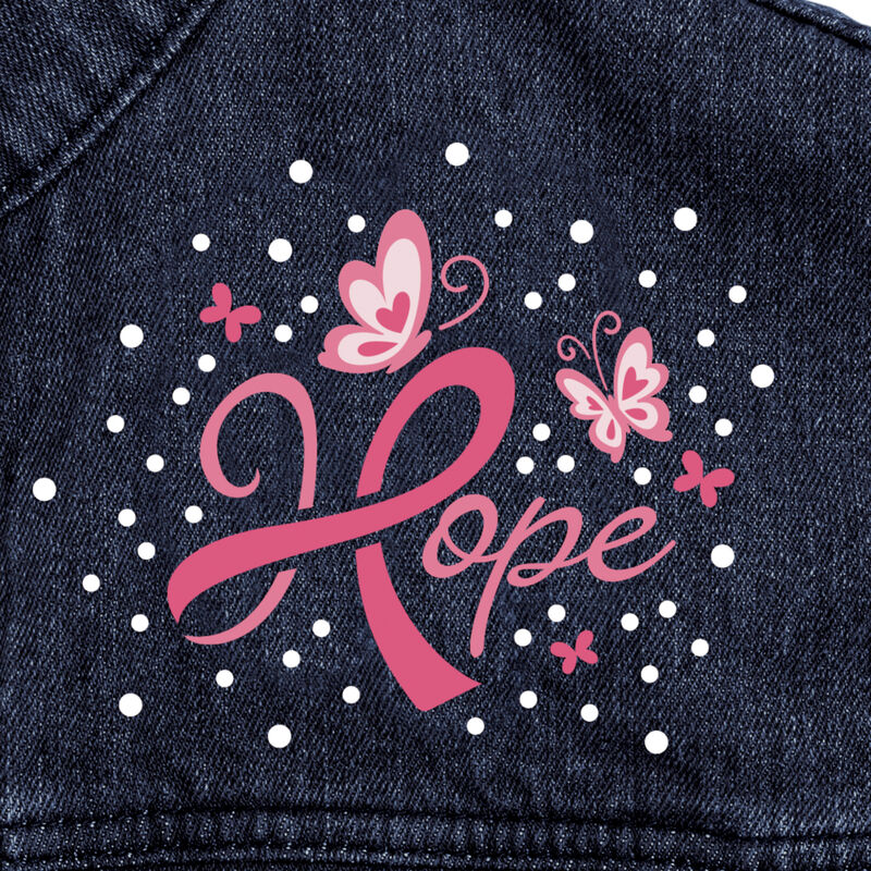 Personalized Hope Denim Jacket 10457 0015 e closeup