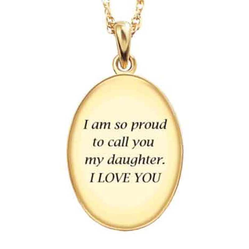 My Daughter My Little Girl Then Diamond Pendant 1162 009 3 3