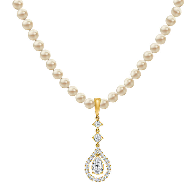 Loves Embrace Pearl Necklace Earring Set 6914 0010 b necklace