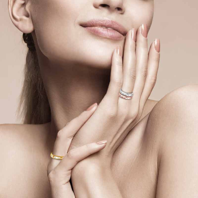 The Copper Trio Stackable Ring Set 4911 001 8 5