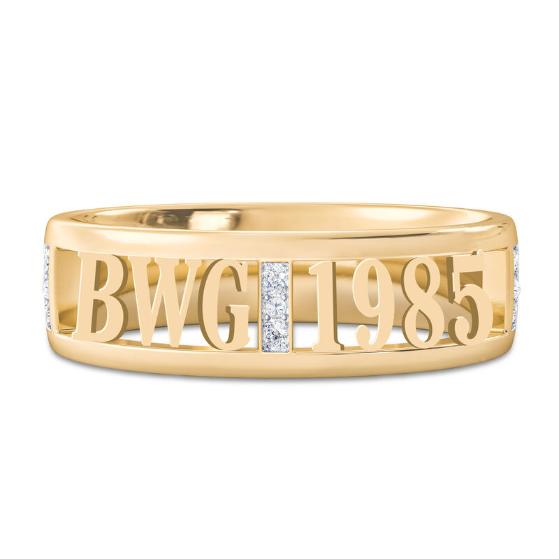Personalized Birth Year Initial Ring 10131 0019 a main