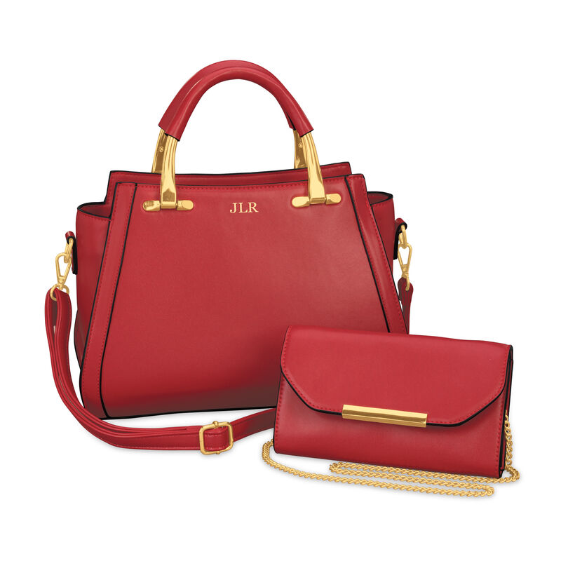 Handbag Red with Gold 2 in 1 5503 0019 a main
