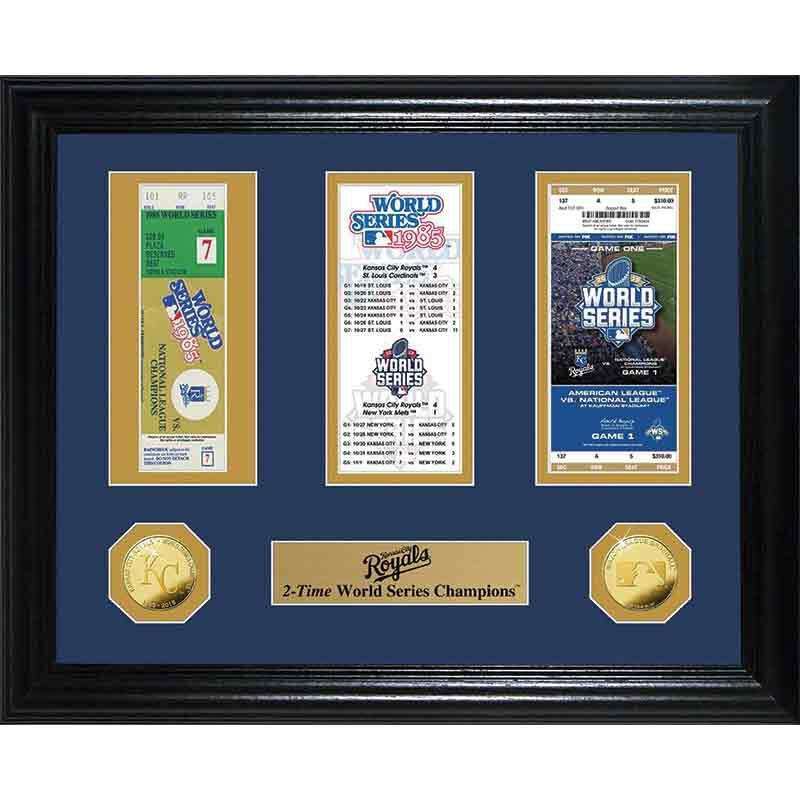 Kansas City Royals  World Series Ticket Commemorative 4392 119 6 1