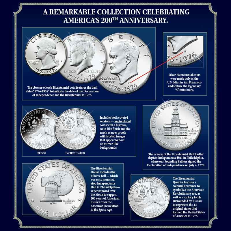 The Complete Bicentennial Silver Coin and Currency Set 6391 001 2 2