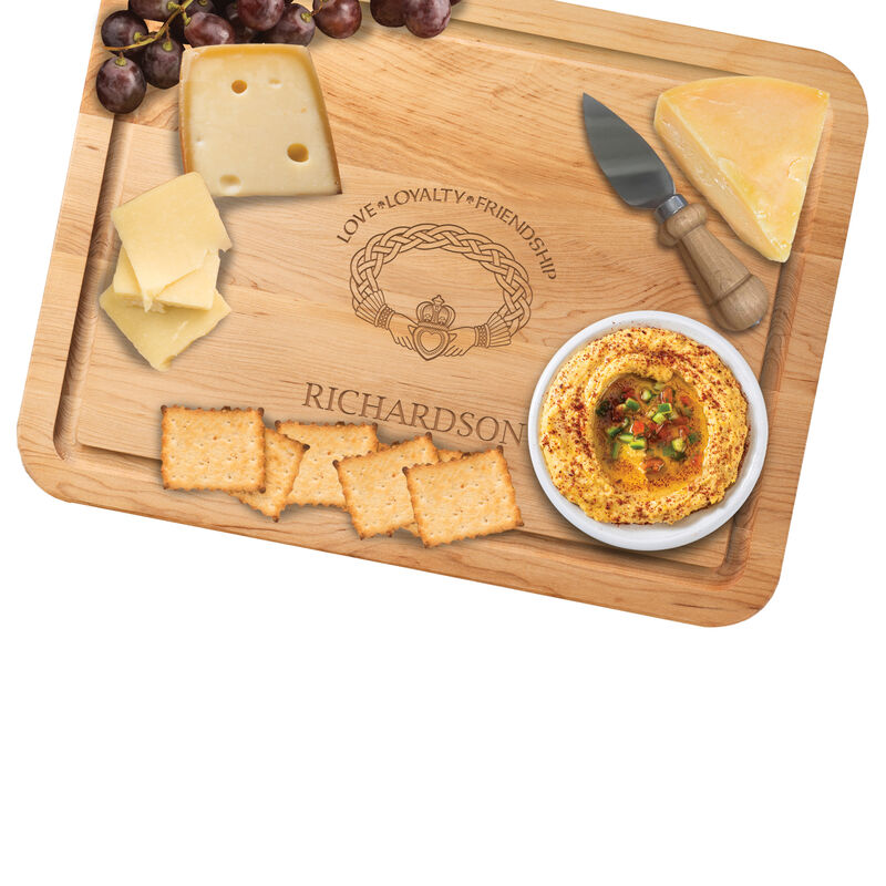 The Personalized Irish Blessing Cutting Board Free Knife 5108 0026 b cheese