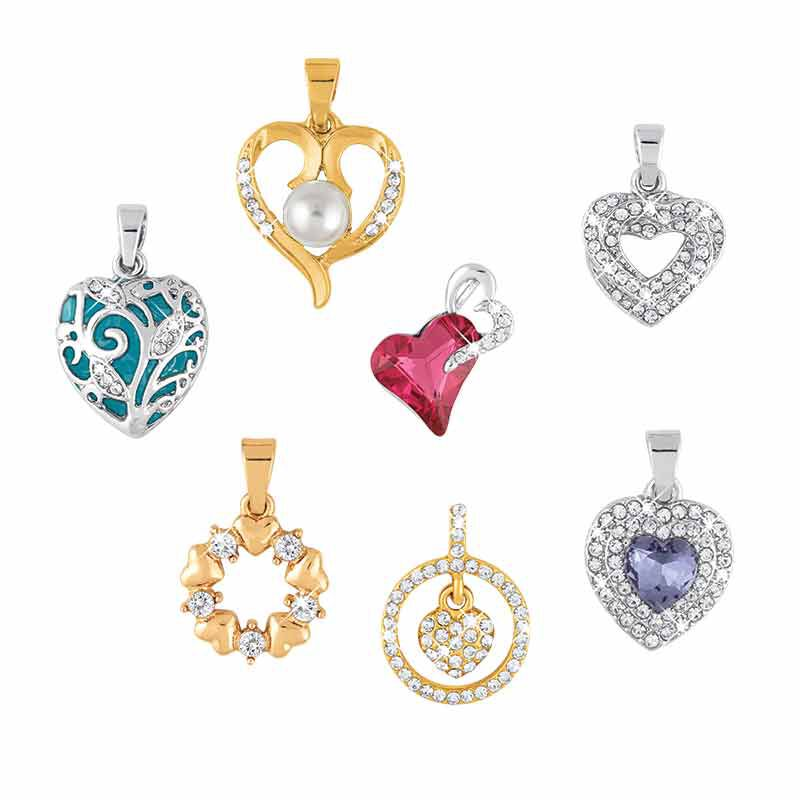 Treasures of the Heart Pendant  Jewelry Box Set 2169 001 1 3