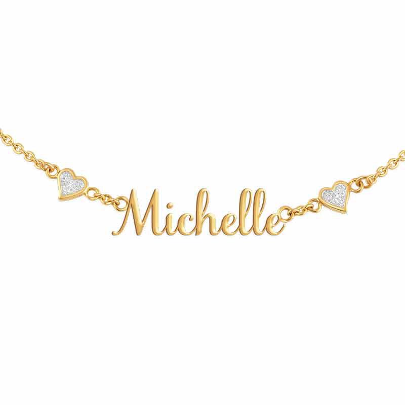 Granddaughter Signature Diamond Necklace 1874 001 9 5