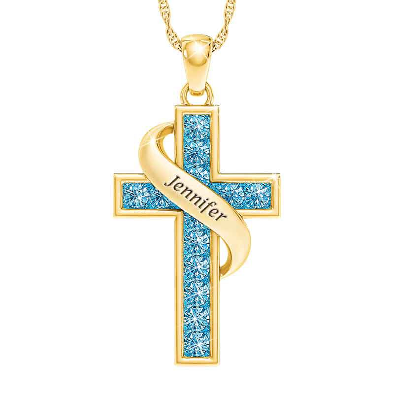 Personalized Birthstone Cross Pendant 5657 001 3 12