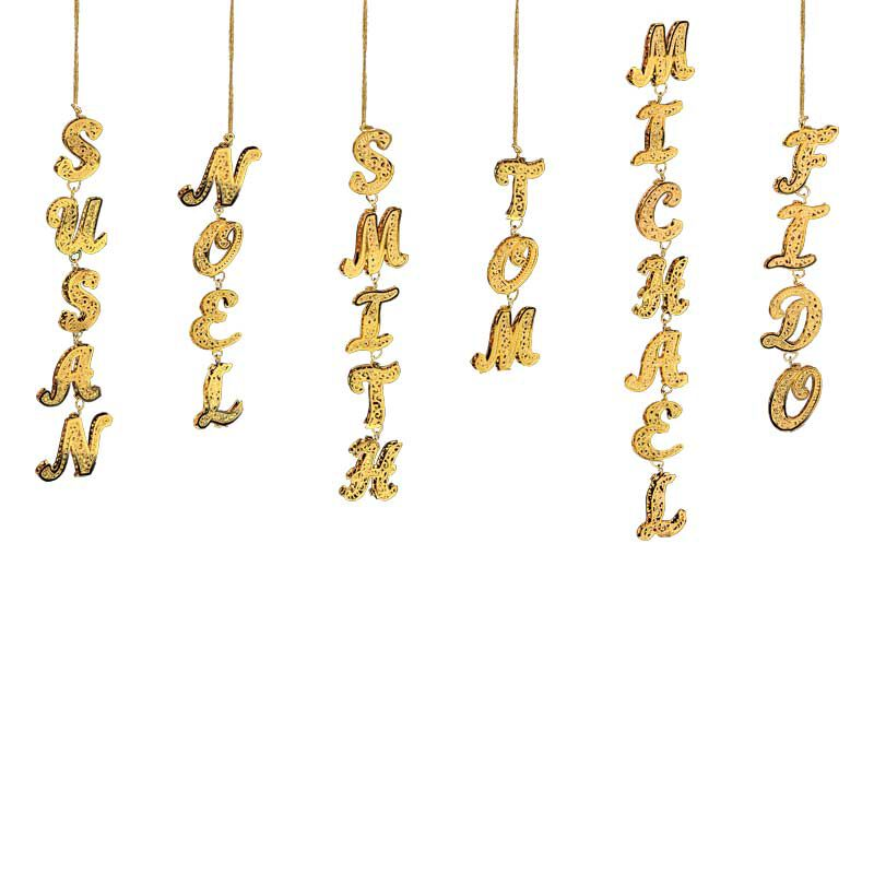 Uniquely Yours Personalized Gold Christmas Ornaments 0084 004 1 1