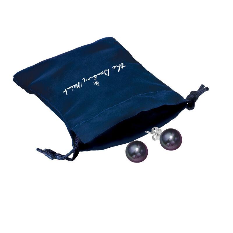Black Pearl Earrings 10166 0017 g gift pouch