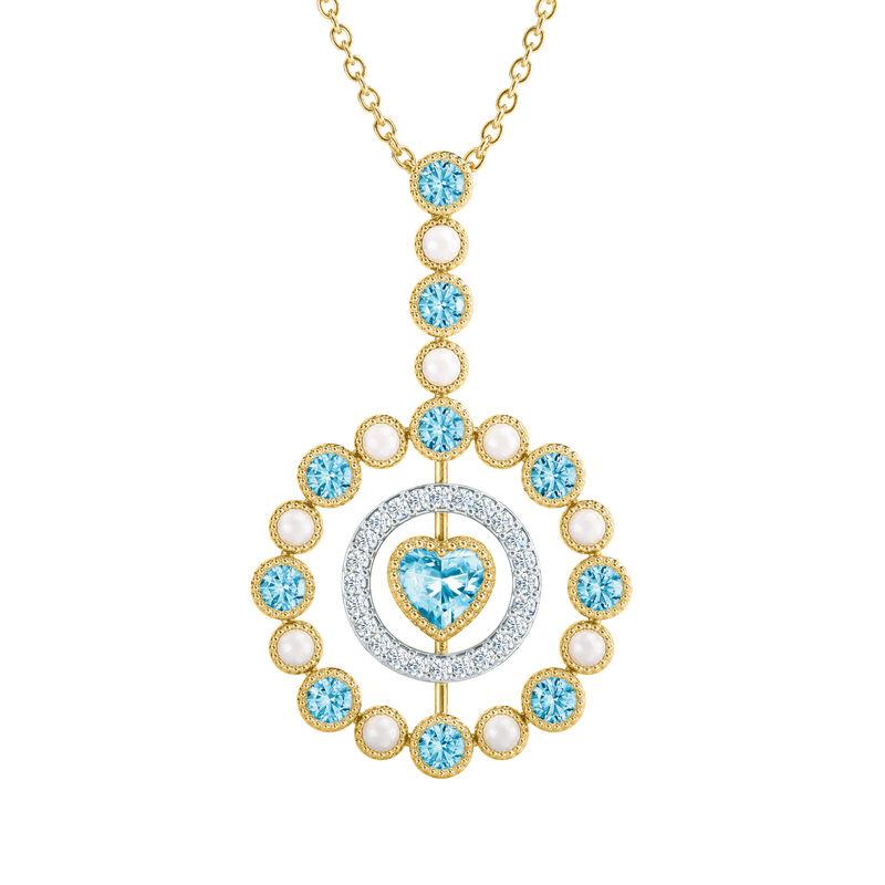 Love Embrace Birthstone Diamond Necklace 6928 0014 c march