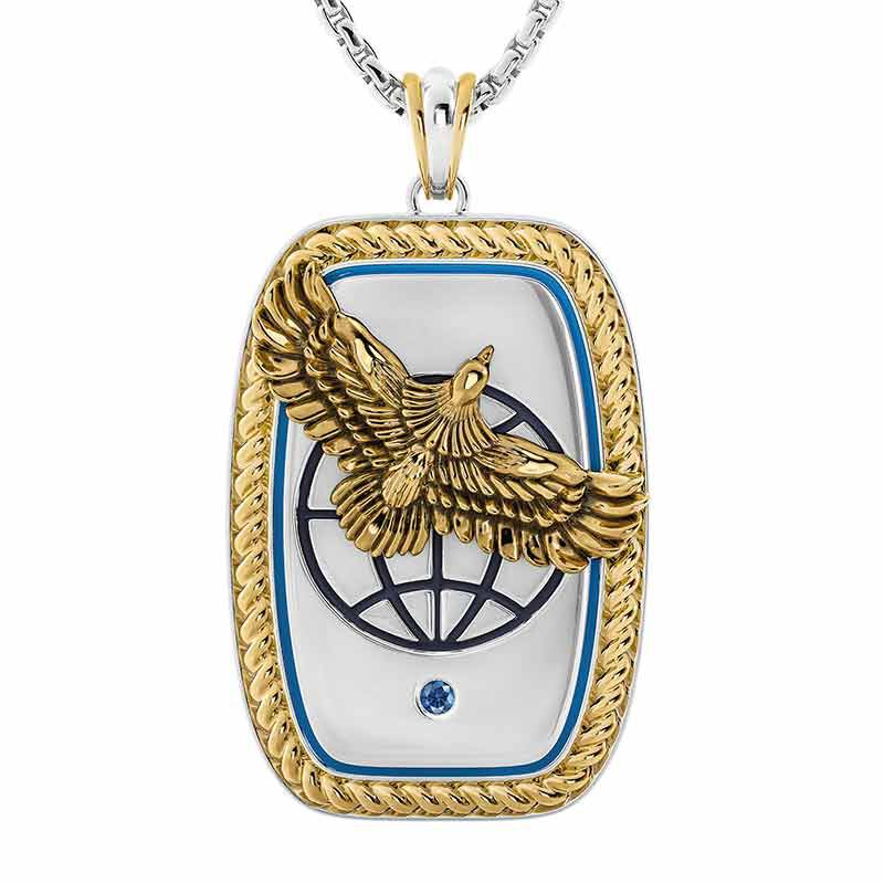 For My Exceptional Son Sapphire Eagle Pendant 6461 001 7 1