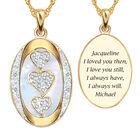 I Love You Custom Birthstone and Diamond Pendant 10702 0018 d april