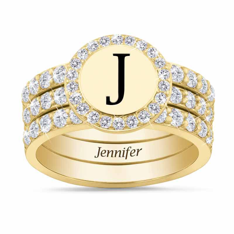 Stackable Initial Ring Set 1412 001 8 1