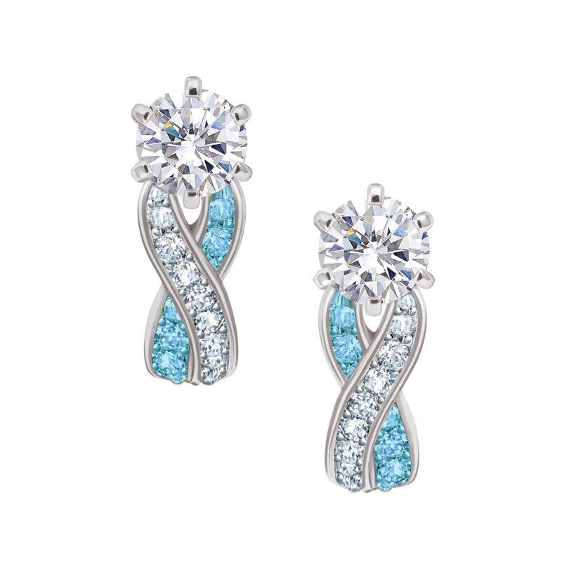 Birthstone Swirl Earrings 6366 0021 c march