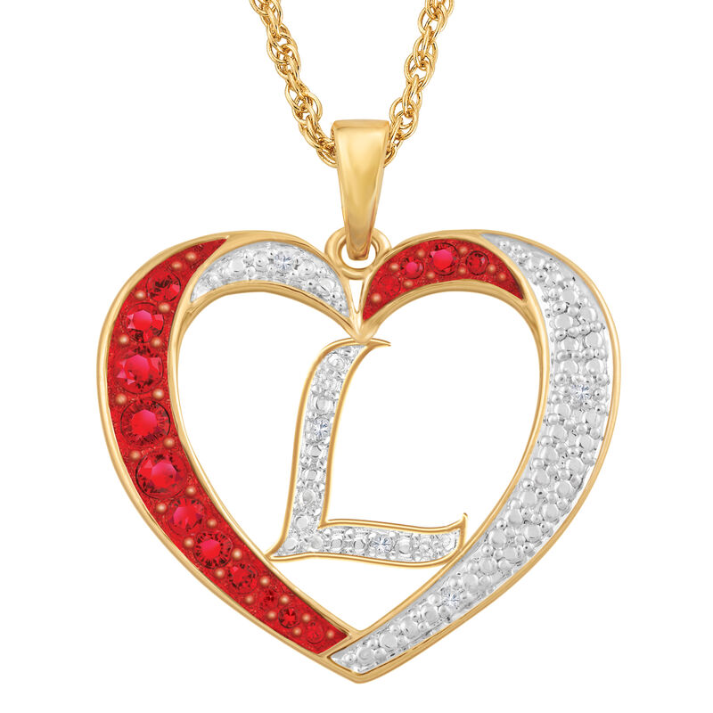 Personalized Diamond Initial Heart Pendant with FREE Poem Card 2300 0060 l initial
