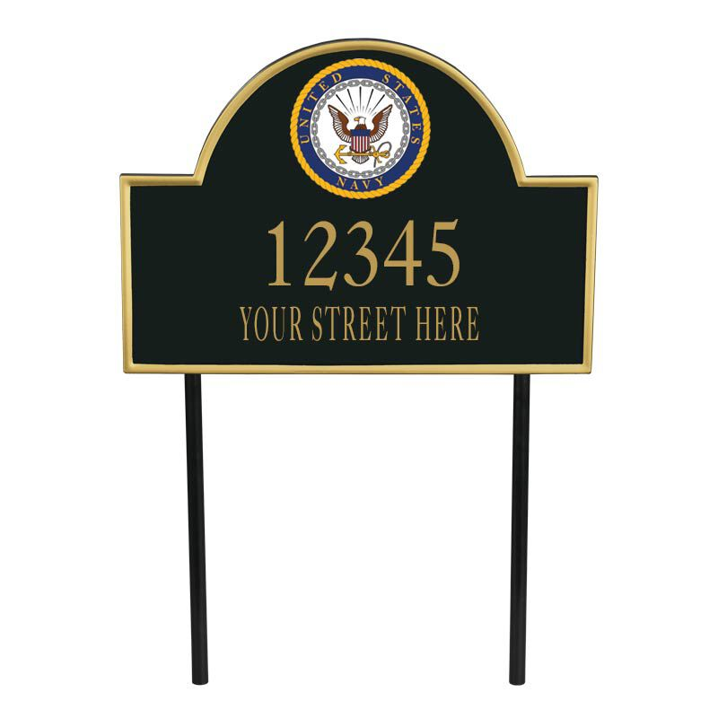 US Navy Personalized Address Plaque 5718 002 8 1