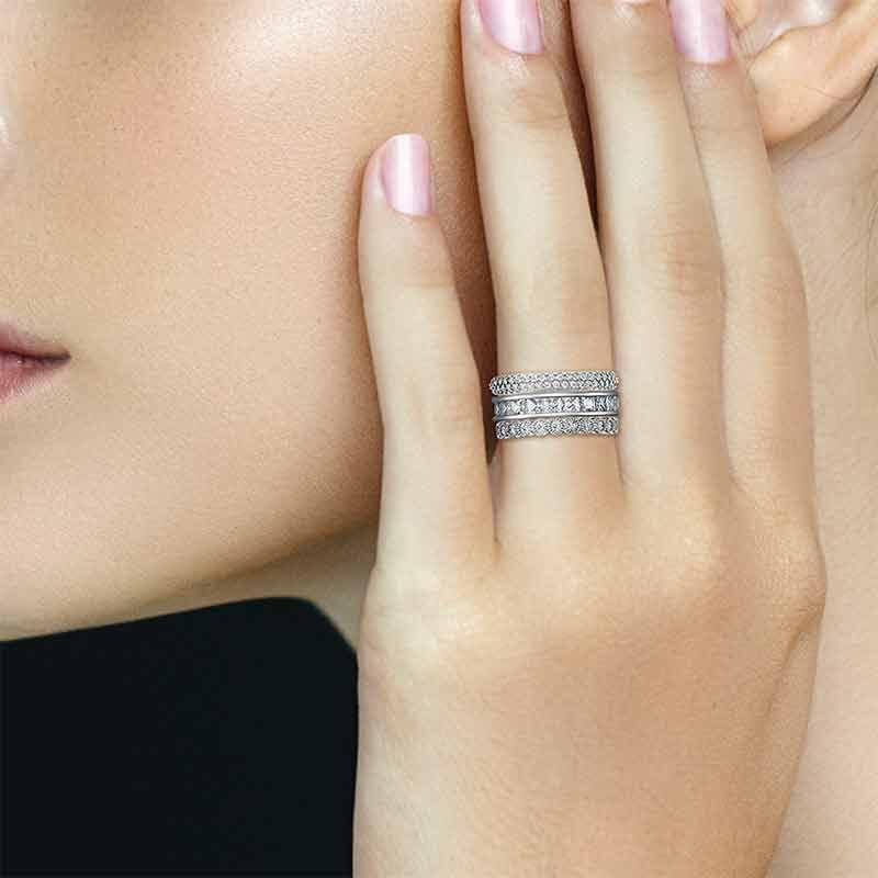 Eternally Beautiful Stackable Ring Set 6190 001 5 4