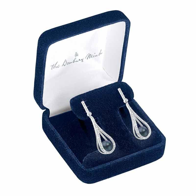 Tahitian Treat Black Pearl Earrings 6164 001 7 3