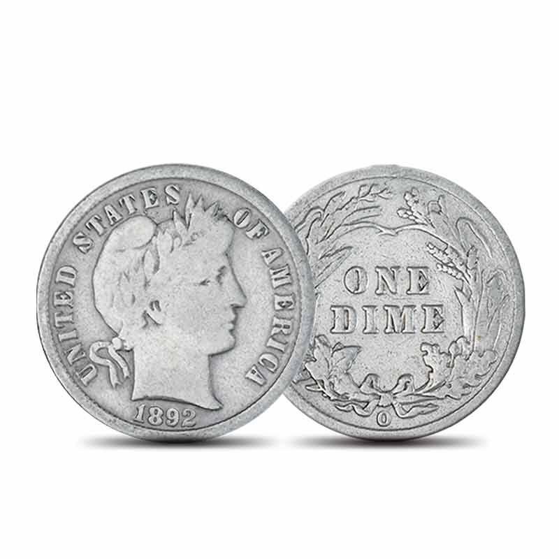 New Orleans Mint Liberty Head Silver Dimes 6053 001 1 2