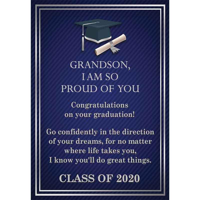 For My Grandson Personalized Graduation Bracelet 2981 014 0 6