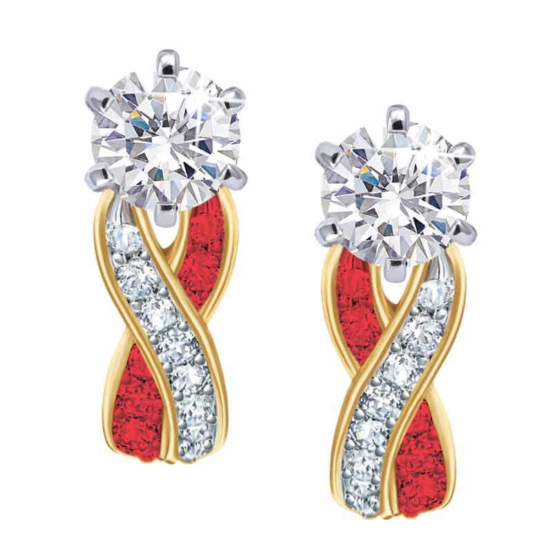 Birthstone Swirl Earrings 5361 014 3 7
