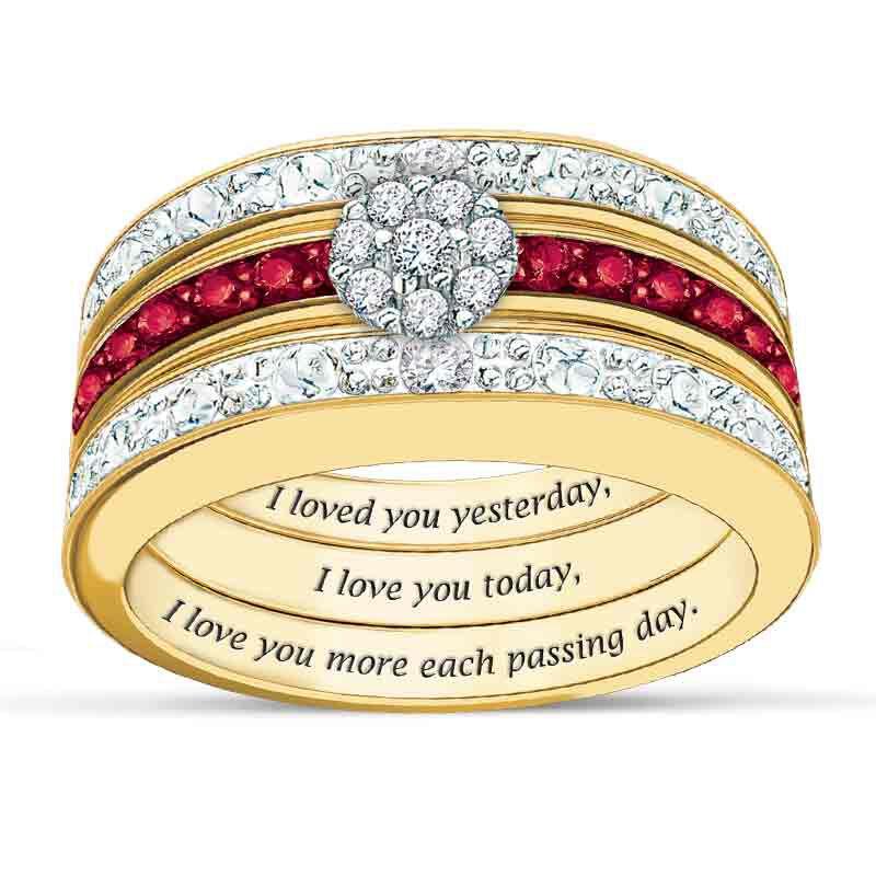 A Dozen Rubies Diamond Ring Set 5289 002 7 1
