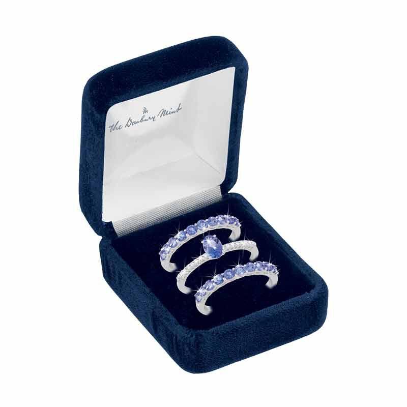 Purple Majesty Tanzanite  Diamond Ring Set 2107 001 6 3