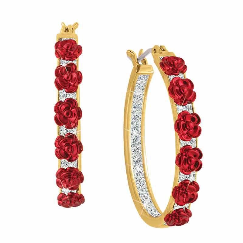 A Dozen Roses Diamond Hoop Earrings 1441 001 3 1