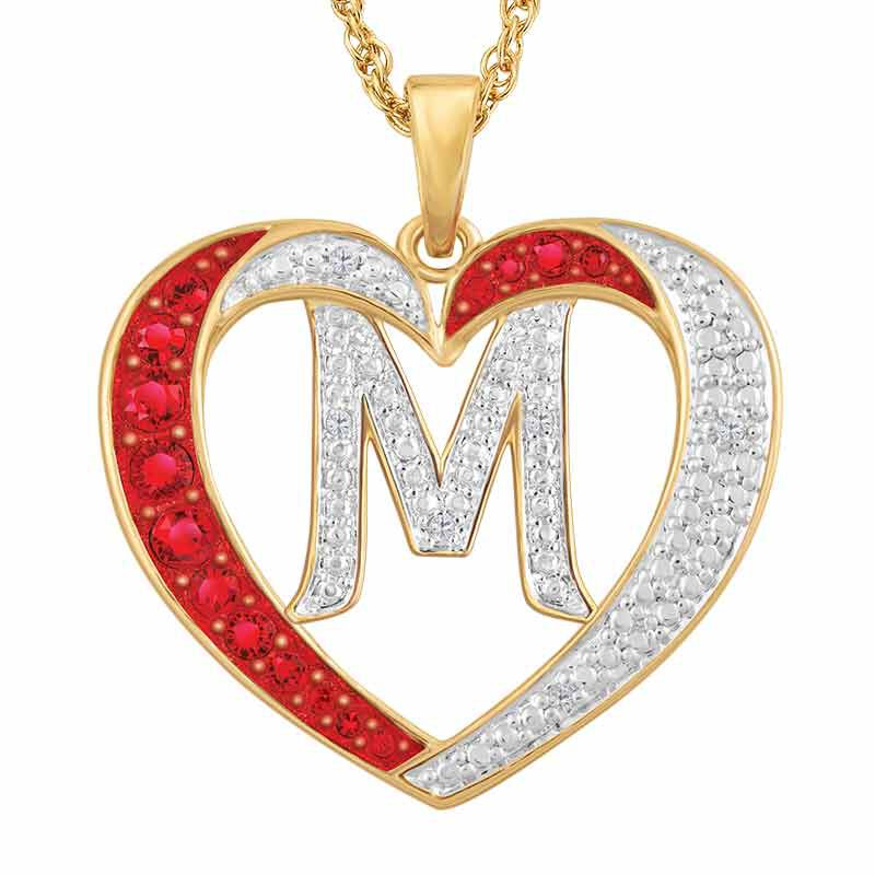 Personalized Diamond Initial Heart Pendant 2300 001 1 5