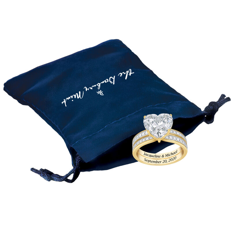 Personalized Endless Love Ring Set 10305 0019 g gift pouch