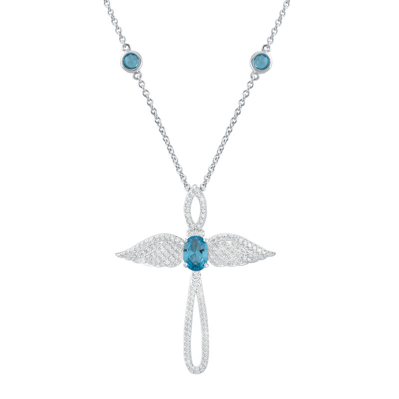 Touched by an Angel Birthstone Necklace 6842 0017 l december