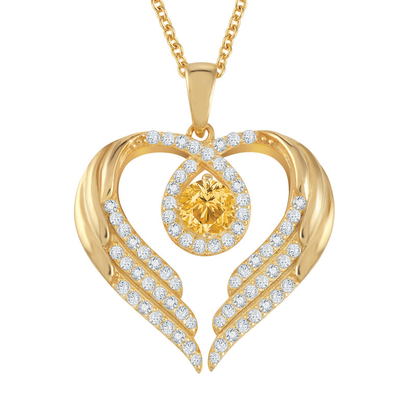 Birthstone Pendant Angel Heart Wing 6721 0013 l november