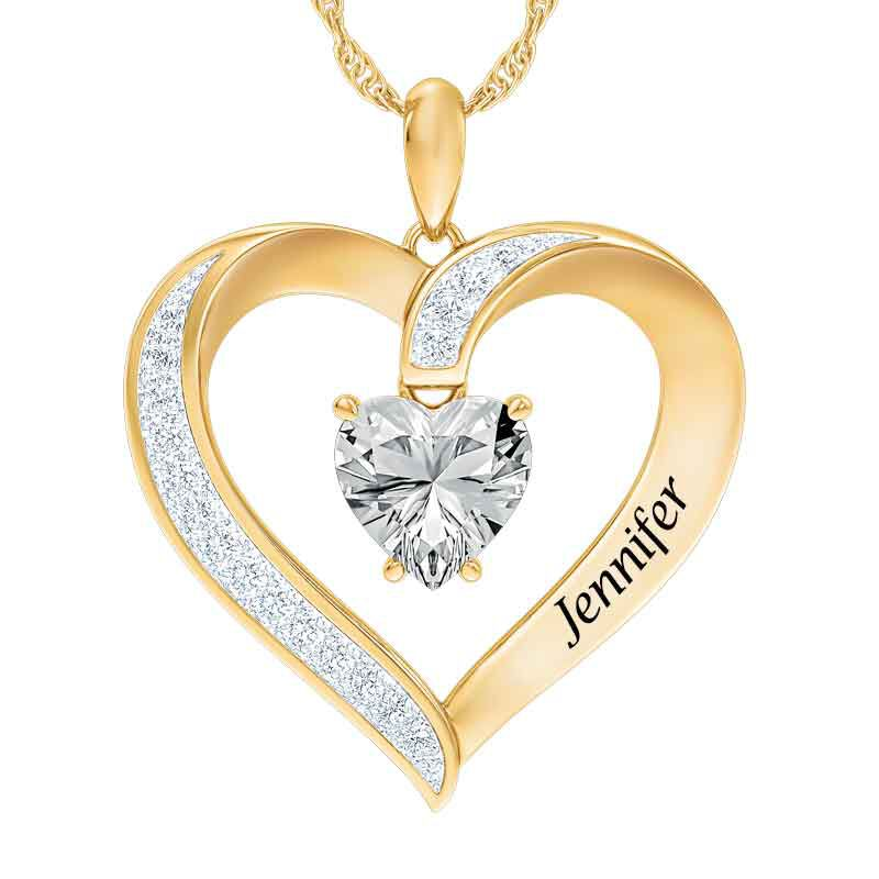 Personalized Birthstone Heart Pendant 5447 001 8 4