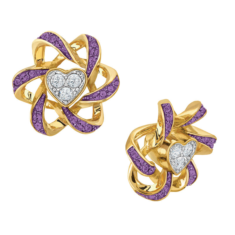 Birthstone Beauty Heart Earrings 2627 0066 b february