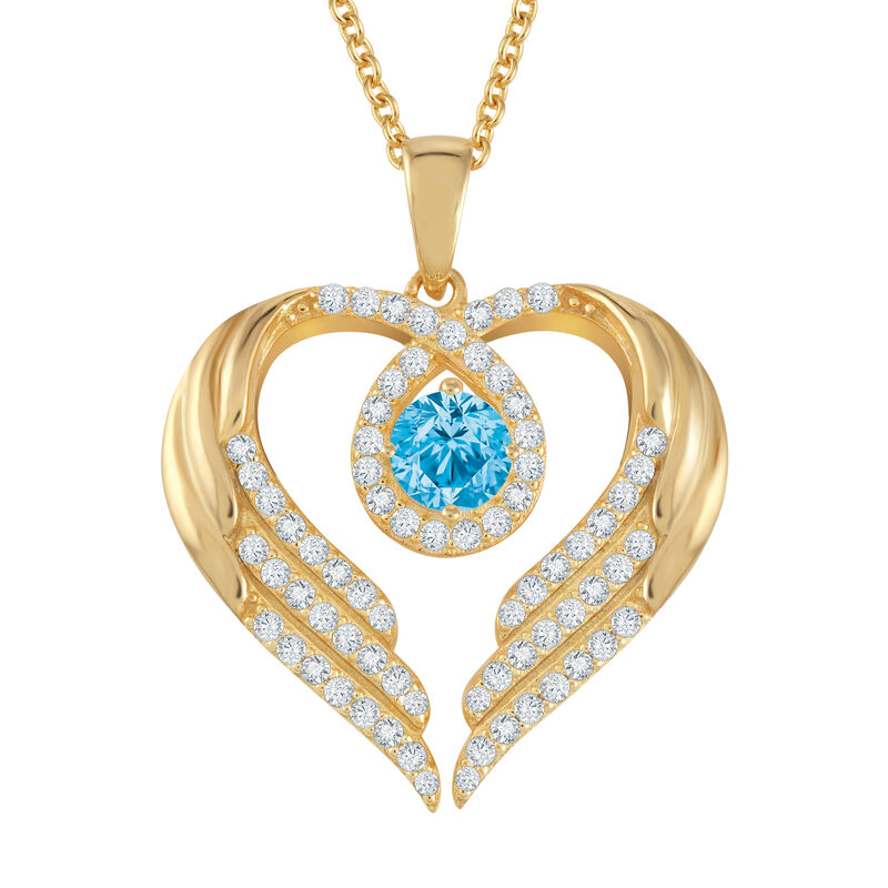 Birthstone Pendant Angel Heart Wing 6721 0013 n december
